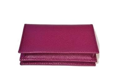8fd4e30cfa03 Amazon.com: PRADA Saffiano Leather Bi-Fold Wallet Card Case Coin Purse  Ametista 1M1122: Shoes