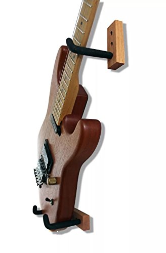Angled Guitar Wall Hanger Display for Electric and Thin Body Guitars- Classic Finish by Hang'em High Guitar Hangers (Image #5)