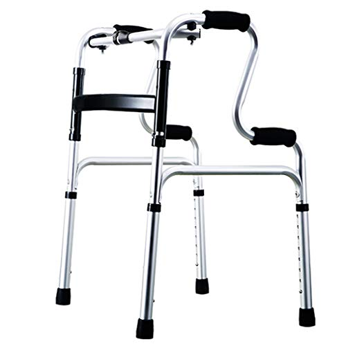 - Walkers Walker Bath Chair Foldable Walker Adjustable Walking Assist Equipped Wheels With Seat For The Elderly And People With Limited Mobility Bearing 100KG Silver Toilet Handrai/Bath Chair/Rest Chair