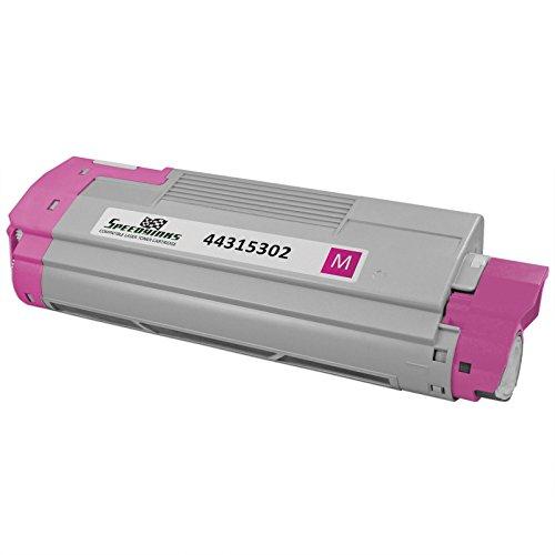 Speedy Inks - Okidata Compatible 44315302 Magenta Laser Toner Cartridge for use in Oki C610cdn, Oki C610dn, Oki C610dtn, & Oki C610n
