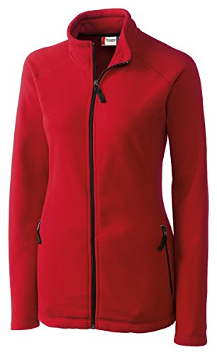 Ladies Full Zip Microfleece Jacket (Clique LQO00019 Women's Summit Lady Full Zip Microfleece Red Small)