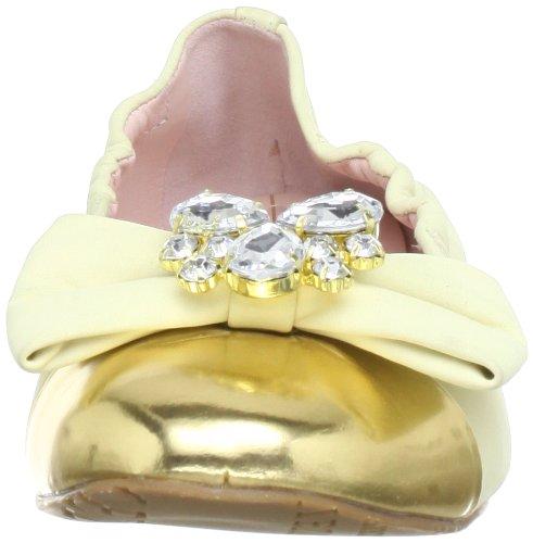 Amarillo Cuero Amelie vanilla Mujer ouro Gelb Bailarinas Miezko De CqOnXdftw