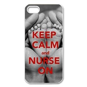 EVA Keep calm and Nurse On iPhone 5 Case,Snap-On Protector Hard Cover for iPhone 5 wangjiang maoyi