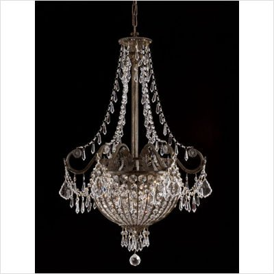 Traditional Classic Crystal Pendant in English Bronze