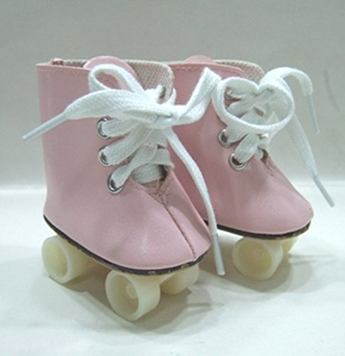 Unique Doll Clothing Pink Roller Skates for 18