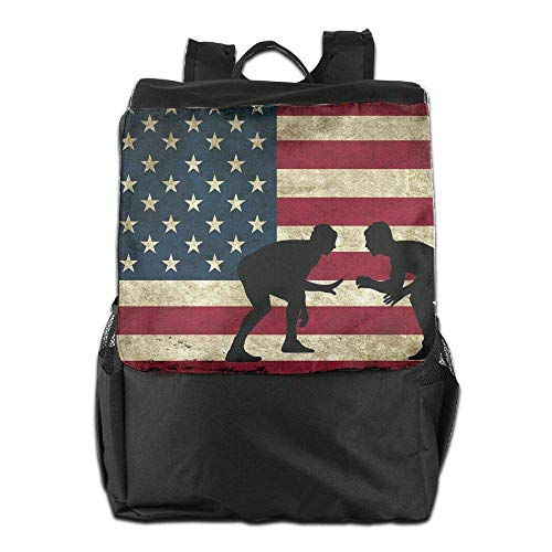 Men Wrestling Backpack College Uhfgyhuihjf Travel Bookbag Flag American Laptop Women School qTxxUFIEw