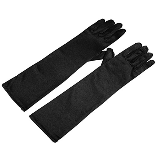 Utopiat Audrey Styled Holly Golightly Long Elbow Length Opera Gloves for Women