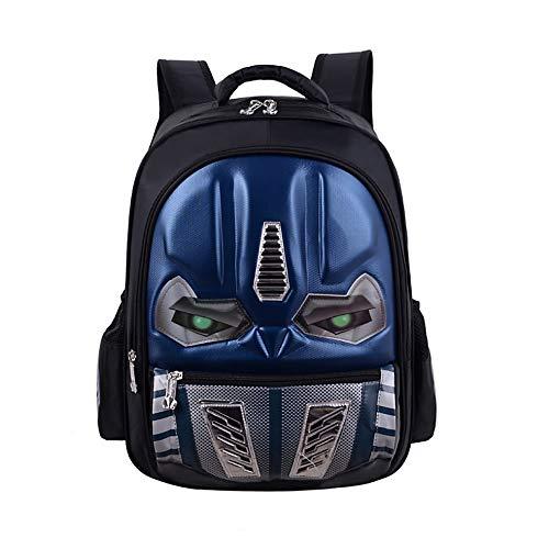 Waterproof Kindergarten Child Book Bag Durable Boy School Bags for Kid Girl Elementary Student Backpack Bookbags for Children (Transformer Blue, -