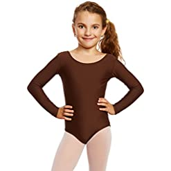 Leveret Girls Leotard Basic Long Sleeve Ballet Dance Leotard 2t 14 Years Variety Of Colors