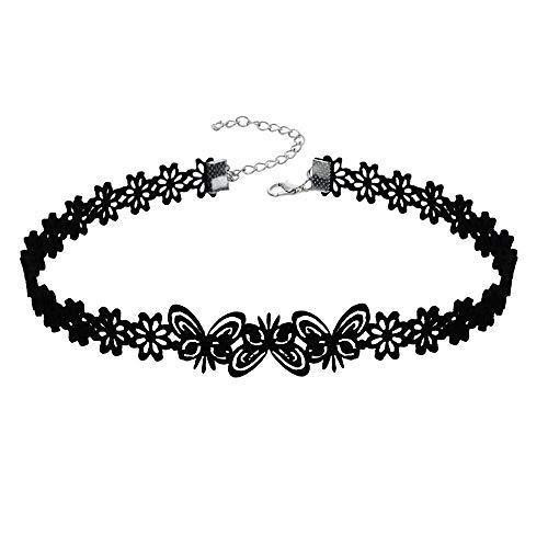 MAFYU Collar Elegante Collar De Mujer Calado Suéter De Mariposa Corta Cadena Cadena De Longitud De Aproximadamente 40 Cm