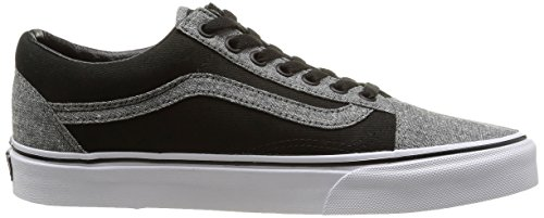 Vans Classic Mens Old Skool Black Pewter Textile Trainers 10 - Import ... 1247e8bf9