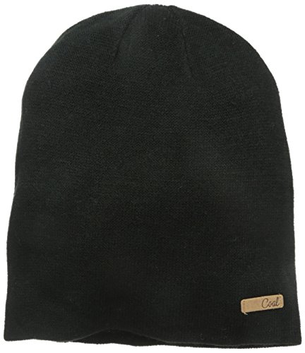 Coal Women's The Julietta Soft Fine-Knit Slouchy Beanie, Black, One Size