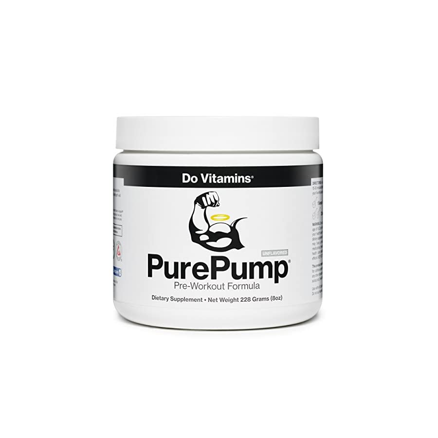 Do Vitamins PurePump Natural Pre Workout Supplement for Men & Women, Cleanest Pre Workout Powder Fitness Supplements Certified Paleo, Vegan, Non GMO No Artificial Sweeteners Colors or Flavors