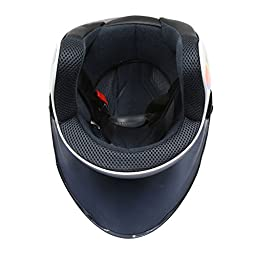 uxcell Colorful ABS Plastic Motorcycle Half Helmet w Black Full Face Shield Visor