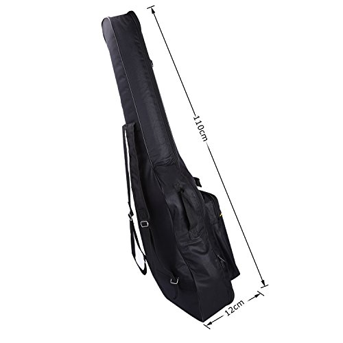CAHAYA 40 41 Inch Acoustic Guitar Bag Waterproof Dual Adjustable Shoulder Strap Guitar Case Gig Bag - Black