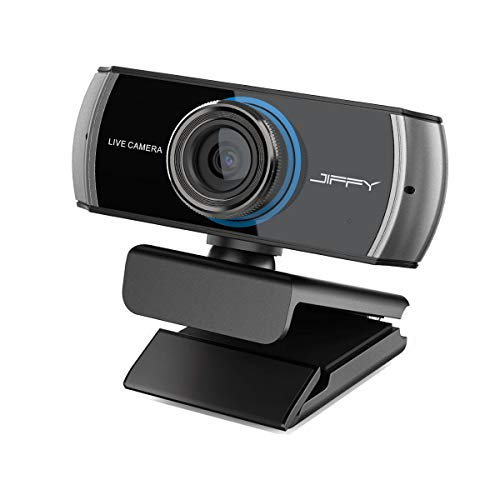 JIFFY Full HD Digital Webcam 1080P / 1536P,Streaming Cam for Video Calling and Recording, Web Camera with Micophone for PC Mac Laptop Xbox One