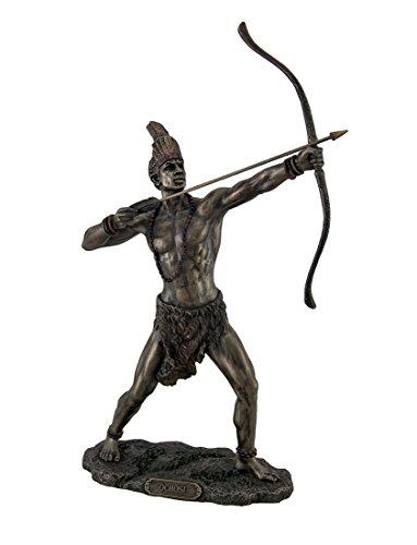 Resin Statues Bronzed Finish Ochosi Divine Hunter Orisha Statue 7.5 X 11.5 X 3 Inches Bronze