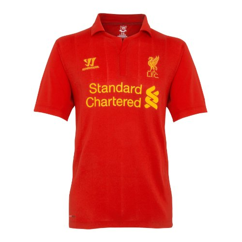 (WARRIOR Junior Liverpool Short Sleeve Jersey, Large, Home Color Red)
