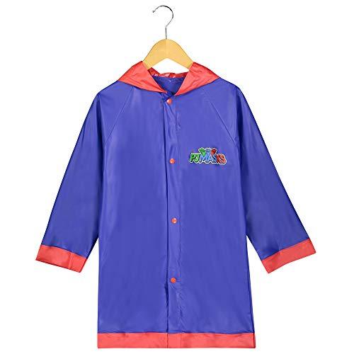 Disney Boys PJ Masks Blue and Red Rain Slicker - Toddler 2-3 Small ()