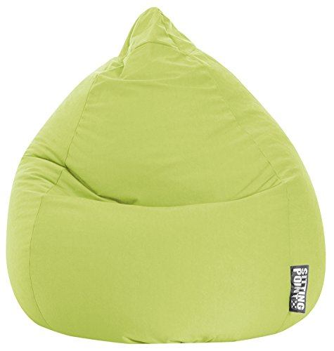 Gouchee Home Easy Collection Contemporary Polyester Upholstered Oversized Bean Bag Chair, Lime Green by Gouchee Home