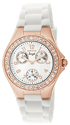 Invicta Women's 1646 Angel Jelly Fish Crystal-Accented 18k Rose Gold-Plated Watch from Invicta