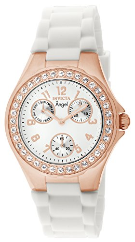Invicta Silver Bracelet Tone - Invicta Women's 1646 Angel Jelly Fish Crystal-Accented 18k Rose Gold-Plated Watch