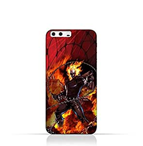 Huawei P10 Plus TPU Silicone Protective Case with Ghost Rider Design