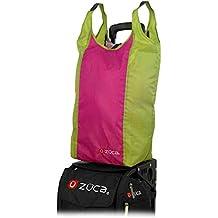 "Zuca Stuff Sack - ""Bikini"" Green and Pink Design, Fits on Zuca Rolling Suitcase Handles"