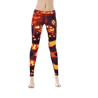 color cosplayer Halloween Women Leggings 3D Design Yoga Pants Workout Capris