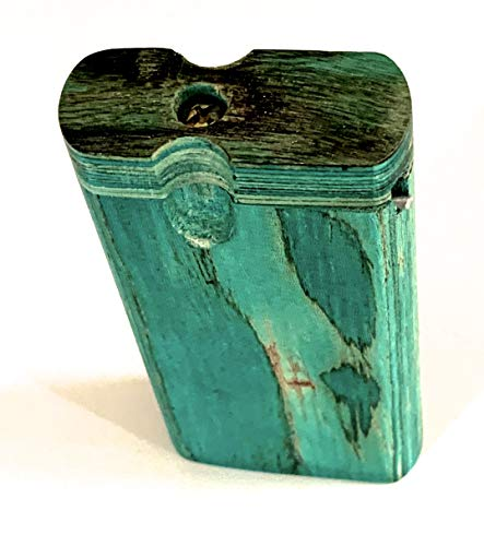 Handmade Power Green Sized Wooden Holding Box with Cleaner + Bat