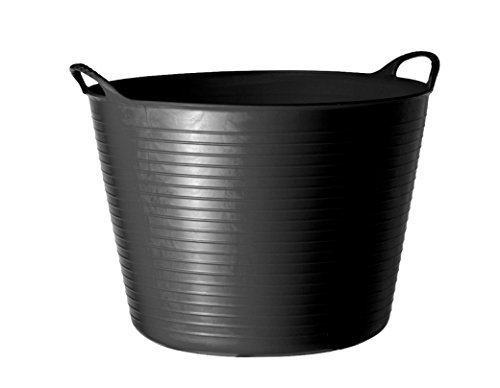 Tubtrug Flexible Bucket, 75 L Extra-Large Capacity, Black, SP75GBK