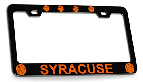 - SYRACUSE Basketball Black Metal License Plate Auto Tag Frame
