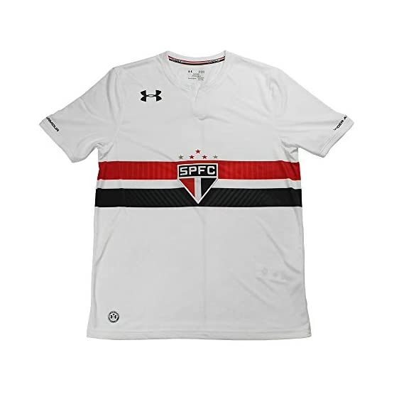 Under Armour 2017-2018 Sao Paolo Home Football Soccer T-Shirt Maillot
