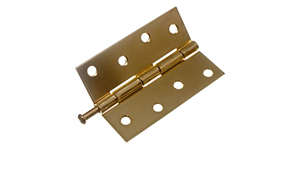 85mm Or 100mm Zenith LOOSE PIN BUTT HINGES 20Pcs Brass Jacket Polished Chrome