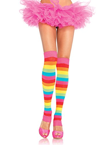 Rainbow Bright Costumes (3922 Rainbow Leg Warmers Sexy Rainbow Bright Costume Leg Warmers)