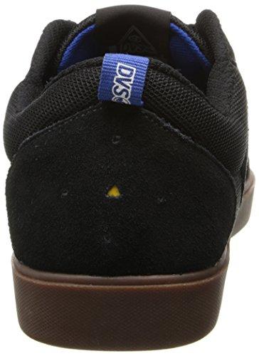 DVS Shoes , Herren Skateboardschuhe schwarz Black/Gum Suede 45 EU