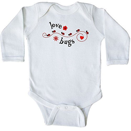 Valentines Day Love Bug - inktastic - Valentine's Day Love Bugs Long Sleeve Creeper 12 Months White 28699