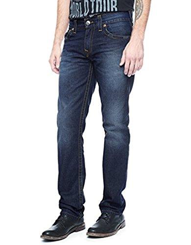 (True Religion Men's Ricky Straight Corduroy Pant Black 28)