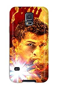 JjaIarX3002GrvSQ Tpu Case Skin Protector For Galaxy S5 Cristiano Ronaldo Vs Barcelona With Nice Appearance