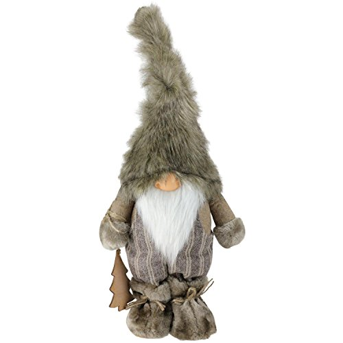 Northlight 16'' Nature's Luxury Decorative Christmas Gnome with Ornament Tabletop Figure by Northlight