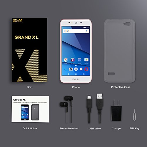 BLU Grand XL - Unlocked Smartphone -5.5'' Display, 8GB +1GB RAM -Rose Gold by BLU (Image #8)