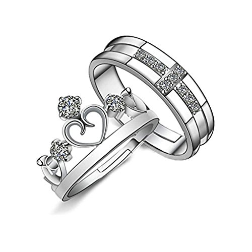 AnaZoz Jewelry His & Her Eternity Rings Prince…