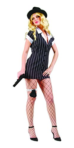 RG Costumes Women's Mobster, Black/White, Small/2-4