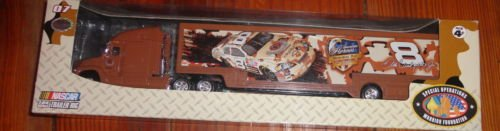 2007 Dale Earnhardt Jr #8 DEI Dale Earnhardt Incorporated Camo Camoflague American Heroes Memorial Day May 2007 Hauler Trailer Transporter Semi Tractor Rig Truck 1/64 Scale Winners Circle Metal Cab, - Circle Winners Trailer