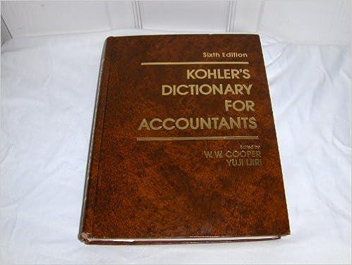 Amazon.com: Kohler\'s Dictionary for Accountants (Prentice-Hall ...