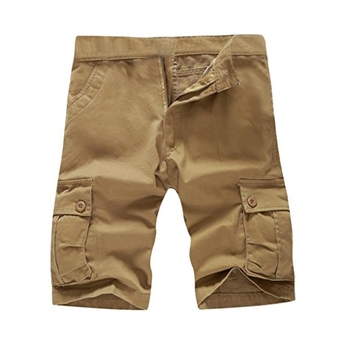 Mikkar Mens Shorts Pants Casual Pocket Beach Work Short Trouser Fashion Clearance by Mikkar