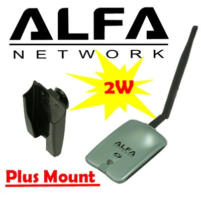 Alfa AWUSO36NH High Gain USB Wireless G / N Long-Rang WiFi Network ()