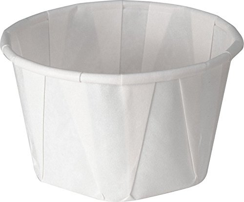 Solo 3.25 oz Treated Paper Souffle Portion Cups for Measuring, Medicine, Samples, Jello Shots (Pack of 250)