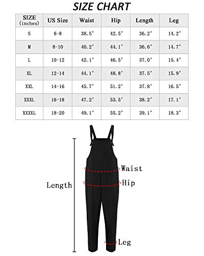 39152633f101 Lncropo Women Large Plus Size Baggy Linen Overalls Casual Wide Leg Pants  Sleeveless Rompers Jumpsuit Vintage
