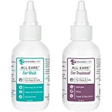 Wondercide Natural Ear Care Bundle of Ear Wash & Ear Infection Treatment for Dogs and Cats